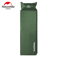 Wholesale Automatic Inflating Mattress - Wholesale- Outdoor Self-inflating Camping Mat With Pillow 3 Colors 1850x600x25mm Air Mattress Tent Bed Single Laybag Sleeping Mat 1kg