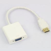 sortie audio portable achat en gros de-HDMI mâle vers VGA femelle adaptateur de câble vidéo pour ordinateur portable moniteur de télévision projecteur xbox one boîte de télévision jack 3,5 mm sortie audio