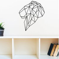 Wholesale Lion Head Wall Decal - Personalized Head Of Lion Geometric Vinyl Wall Art Stickers Creative Wall Decor for Living Room Bedroom Offer Drop Shipping