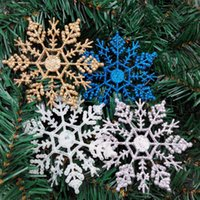 Wholesale Plastic Blue Snowflake Ornament - 12 Pieces  Lot Snowflake Christmas Tree Ornament Decorations Xmas Decorations Xmas Snowflak Decorations High Quality Wholesale In Stock