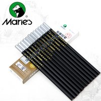 Wholesale Hard Pencil Boxes - Wholesale- Maries 12Pcs Box Lead Soft   Neutral   Hard Charcoal Pencil Black Sketch Drawing Pencils Non toxic Pencil For School