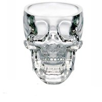 Wholesale Wine Glass Packaging - New Crystal head Pirate Skull Cup Vodka Whiskey Brandy Shot Glass Blown Home Bar Drinkware Wine Glasses Retail Package 240666