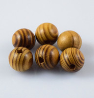 Wholesale Wood Beads 16mm - Natural Woodgrain Round Loose Spacer Bead Jewelry Fit DIY Bracelet 6,8,10,12,14 ,16mm