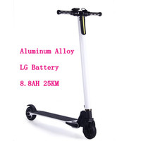 Wholesale Aluminum Folding Scooters - LG 8.8AH Aluminum Alloy 2 Wheel Scooters 25km For Adults Kids Folding Portable Mini Bicycle Adult Kick Scooter Height Adjustable Scooter