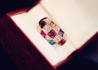Wholesale Gold Ring Austria - Austria luxury Diamond Ring Crystal Symphony classic noble ring explosion diamond ring wholesale free shipping