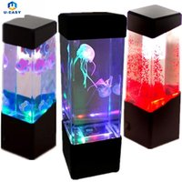 Wholesale Led Glow Light Fishing - U-EASY 4 Patterns LED Light Glowing Aquarium Fish Tank Night Light Home Indoor Decoration Light Gift Lamp for Kids Friend