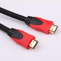mikro usb otg hdmi toptan satış-1.4 m yüksek hızlı altın kaplama fiş erkek HDMI kablosu 1.4 sürüm 1080 P HD bilgisayar TV video kablosu