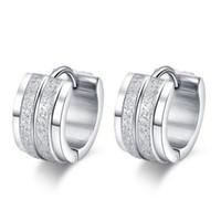 Wholesale cool earrings for men - Cool Hoop Earring For Women Men Jewelry Stainless Steel Silver Plated Earrings Party Jewelry EH-032