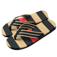 High Quality Fashion Men Summer Outdoor Stripe Flip Flops Chaussures Casual Sandals Homme Chinet Flip-Flops Pour Hommes Hot Sale 2016
