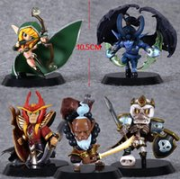 Wholesale Dota Model - 5pcs set Dota 2 PVC Action Figure Toys Blademster Kingleoric Popular Soulguard Silence Model Collection Dota2 Game Toys Gift