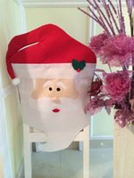 Wholesale Used Outdoor Christmas Decorations - DHL Lovely Christmas articles for use Chair Covers Ornaments Mr & Mrs Santa Claus Christmas Decoration