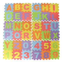 Wholesale Eva Alphabet Puzzle Mats - Wholesale- 14.2cm Puzzle Number Letter Alphabet Eva Foam Mat Children's Soft Developing Crawling Baby Play Pad Floor Rugs For Baby Games