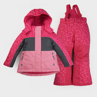 Wholesale Girls S Jackets - Wholesale- High-end Autumn Winter Children Outdoor sports Skiing Snowboard Thermal Suits Hiking Jacket+Pants Girls Waterproof Camping Sets