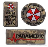 VP-106 3D gestickte Patches Full Set Resident Evil Umbrella Corporation Logo Zombie Outbreak Taktische 3D Patch Combat Badge Armband Abzeichen