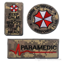Compra Ombrello Malvagio Residente-VP-106 3D ricamato patch serie completa di <b>Resident Evil Umbrella</b> Corporation Logo Zombie Outbreak tattico 3D Patch combattimento Badge Armband Badge