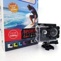 ingrosso schermata lcd della fotocamera del casco-Il più economico A7 2 pollici LCD 1080P casco sport DV video auto Cam DV Action impermeabile 30 M fotocamera videocamera