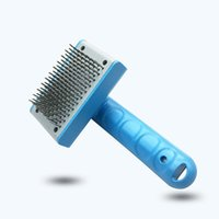Wholesale Pet Comb Clean Shedding Tool Fine Hair Trimmer Attachment Brush Dog Cat Self Cleaning Grooming Her Fur Comfortable