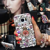 Wholesale Pink Rhinestone Note Cases - For Galaxy 8 plus Case 14 Styles Handmade Crystal Bling Diamond Rhinestone Phone Case for Samsung Galaxy S7 S6 edge note 5