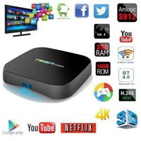 Wholesale t95r pro - Genuine Android S912 TV Box T95R pro gb gb Gigabit Ethernet G AC WiFi BT4 D Octa Core K TV Boxes
