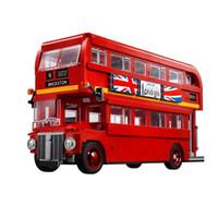 Wholesale Building Block Bus - Lepin 10258 The London Bus 1716 Pcs Mini Bricks Set Sale Technic Series Learning Building Blocks Toys For Children