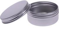 kalay ipliği toptan satış-15 ml 15g Alüminyum Balsamı Teneke pot Kavanoz 15g vidalı vida ile Dudak Balsamı Parlatıcısı balmumu Parlatıcısı konteynerler ambalaj
