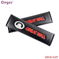 Wholesale Great Wall Wingle - Carbon Fiber Safety Belt Cover for Great Wall hover h5 h3 safe wingle m4 Seat Belt Cover Protective Car Styling 2pcs lot