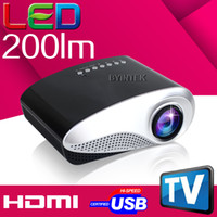 Wholesale used business projectors resale online - BYINTEK New arrival ML201 Mini portabel projector Home Theater HDMI USB AV Digital cinema LED LCD for home use game movie