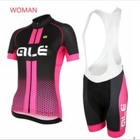 Wholesale Sportwear For Women - ALE Pro Summer Cycling jersey 100% Polyester Bike Sportwear Mountain Bicycle Clothing For Woman Maillot Ropa ciclismo F1504