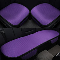 Wholesale Wholesale Cushions Silk - Car front back Seat Covers breathable ice silk Universal Fit SUV sedans Chair Pad Cushion antiskid