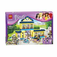 Wholesale High School Toys - BELA Buidling Blocks 10166 Friends Heartlake High School 41005 Model Compatible LEPIN Bricks Figure Toy For Children 489 PCS