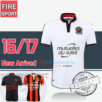 Wholesale Shirt Mario - 2017 OGC Nice French League soccer Mario Balotelli Soccer Jersey 2016 Balotelli Nice Home Red Away White Football Shirts Maillot de Foot