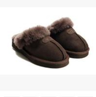 Wholesale sheepskin australia boots online - HOT SALE Australia Classic WGG Warm Cotton slippers Men And Womens slippers Short Boots Women s Boots Snow Boots Cotton Slippers