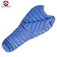 Wholesale Goose Camps - Wholesale- AEGISMAX winged horses goose down sleeping bag Super light summer camp down sleeping bag 95% white goose down 800 fluffy