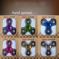 Wholesale Toys Color Red - 2017 Metallic Color Plated EDC Fidget Spinners Rotate Hand Spinner Originality Decompression Toys Black Gold Finger Toy Funny Spinning Top