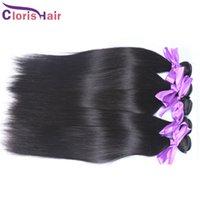 Wholesale Remi Indian Human Hair Extensions - Unprocessed Brazilian Peruvian Malaysian Indian Human Hair Weaves Straight 3 Bundles Cheap Cambodian Straight Remi Hair Extensions