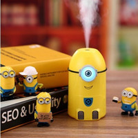 250ml spraying water bottle - Car Humidifier Air Mist Diffuser Purifier Car Humidifiers Air Cleaning little yellow people Minion Water Bottle Steam Humidifier free