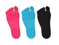 Wholesale Nvisible Adhesive Shoes Foot Pads for Kids Adult Red Black Blue Non slip Beach Foot Protector Stealth Insoles