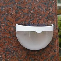 Wholesale Outdoor Gate Solar Lights - Wholesale- 2015 Fancy 500mA LED garden gate light For safety color warm white color solar wall gate light