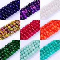 Wholesale beads semi precious for sale - Group buy 1pack mm quality multicolor round multifaceted semi precious gem jade natural stone beads for DIY jewelry making