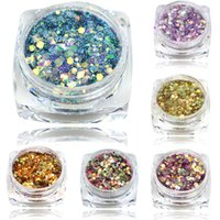 Wholesale Usa Nail Polishes - Wholesale- 2016 New Arrival 1Bottle 3g Mix Color Nail Art Acrylic USA Glitter Powder Dust , 3D Beauty Polish Tips T27-40