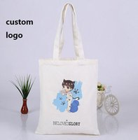 Wholesale Customised Bags - Custom printed logo hot Cotton canvas bag custom canvas bags customised LOGO printed accept eco gift bags