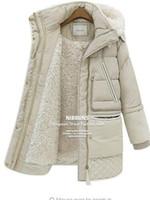 chaqueta de lana blanca para las mujeres al por mayor-2017 nuevo invierno gruesas chaquetas blancas de plumas de cordero de lana de cordero de imitación de las mujeres abajo abrigo prendas de vestir exteriores parkas overcoa