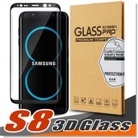 Wholesale Quality 3d Glasses - Premiun Quality Samsung Galaxy S8 Tempered Glass Screen Protector Exact Design S8 Plus Full Screen Coverage, 3D Curved Edge, Anti-Scratch