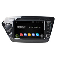 Wholesale Radio Kia Rio Gps - 8'' Quad Core Android 5.1 Car DVD Radio Stereo GPS Navi Player For Kia K2 RIO 2011-2012
