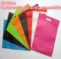 Wholesale Plastic Loot Bags - Wholesale- 25*35cm 10 pcs lot plastic to package clothing plastic loot bags