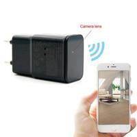 Wholesale Usb Surveillance Dvr Wireless Camera - Mini Wireless WIFI P2P Network HD 1080p USB AC Plug Adapter Covert Spycam Mini DVR Hidden Camera Surveillance Video Recorder