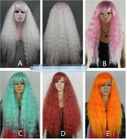 Wholesale Cosplay Lolita Wigs White - Free Shipping>>>new vogue Hot Sell!!!Many color can choose Lolita Cherry blossoms Costume wig 80cm White cosplay Wigs