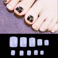 Wholesale false nails online - Natural White Transparent Acrylic False Fake Artificial Toe Nails Tips For Nail Art Decoration free shippinng