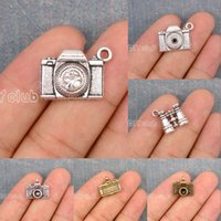 60pcs-Antique Tibetan Silver Bronze Rhinestone Lens Camera Telescope 3D Binóculos Encantos Pendente Lovely Connector DIY Jewelry Making