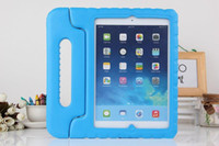 Wholesale Ipad Mini Kids Covers - Portable Kids Safe Foam Shock Proof EVA Handle Cover Stand Case for iPad mini 1234 2 3 4 Air 5 6 Pro free